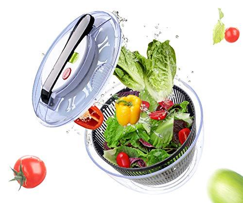 HUOQILIN Salatschleuder, Kunststoff Großer Salattrockner Salatkarusssel, Salad Spinner