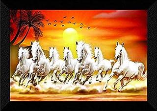 SAF 7 Running Horses at Sunrise Vastu UV Textured Multi-Effect Framed Painting 35 cms X 50 cms AANFM173