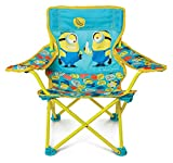 Minions 2 Foldable Camp Chair Fold N Go Chair Sturdy Metal Construction (Easy To...