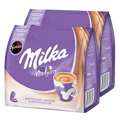 Senseo Milka Choco Pads 2er Set, Schokoladengetränk, Kakaogetränk, Kaffeepads, 2 x 8 Pads / Portionen