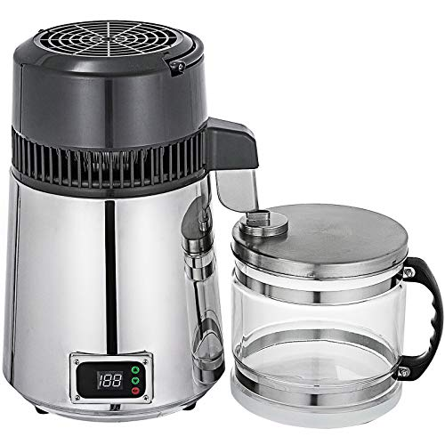 WQY 4L 750W Wasserdestilliermaschine Edelstahl Innere Einstellbare Temperatur Digitalsteuerung Destilliert Gereinigt Für Die Wohnküche