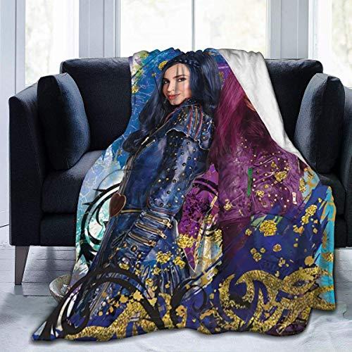 Descendants 3 Evie Mal Ultraweiche Micro-Fleece-Decke, Überwurf, superweich, hypoallergen, Plüsch, Bett, Couch, Wohnzimmer, 152,4 x 127 cm