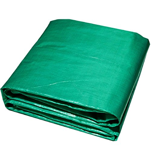 CHUDAN+ Multifunctioneel groen waterdicht dekzeil dekzeil vloerbedekking voor kamperen, vissen, tuinieren, verschillende maten