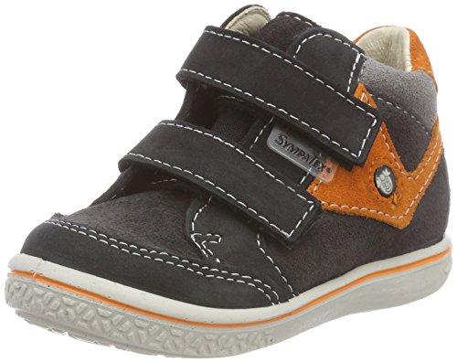 RICOSTA Jungen KIMO Hohe Sneaker, Grau (Asphalt/Orange 490), 23 EU