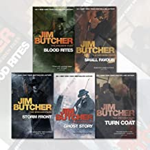Jim Butcher The Dresden Files Series 5 Books Collection Set (Ghost Story, Turn Coat, Storm Front, Blood Rites, Small Favour)
