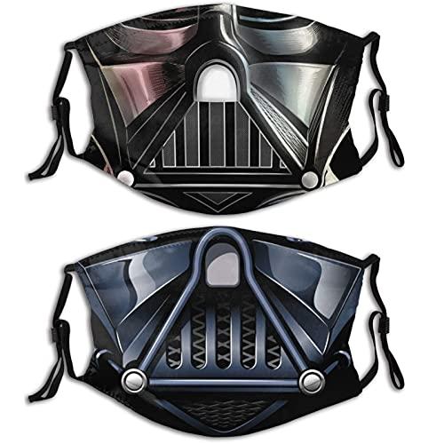 KINGAM Máscaras faciales ligeras ultra transpirables lavables reutilizables adultos diseños impresos, a prueba de polvo, pasamontañas ajustables Negro-8-1