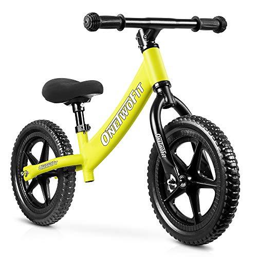 OneTwoFit べダルなし自転車 軽量 おしゃれ キッズバイク 子供 幼児用 バイク 組み立て簡単 サドル高さ調整可 トレーニングバイク 子供用自転車 日本語説明書付き OT218