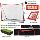 WhiteFang Golf Net 4 in 1 Golf Practice Set 10x7ft Golf Netting Bundle Golf Chipping Nets Golf Hitting Grass Mat&Golf Balls with Carry Bag for Backyard Driving Indoor Outdoor