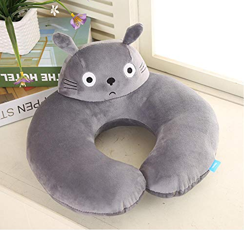 Cute Cartoon U Shape Travel Pillow Soft Plush Neck Support Pillow Office Airplane Nap Cushion Gifts 30X32Cm