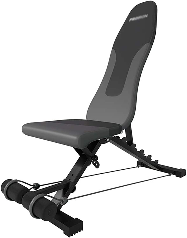 ウェイトトレーニングベンチ 重量ベンチ、ダンベルベンチ折りたたみ椅子フィットネスホーム多機能シットアップボード腹部フィットネス機器飛ぶ鳥スツール ベンチプレス