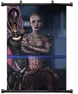 Wall Scroll Poster with Mass Effect Jack Hood Look Faces Characters Home Decor Wall Posters Fabric Painting 23.6 X 35.4 Inch