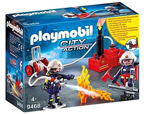 PLAYMOBIL City Action 9468 - Bomberos con bomba de...