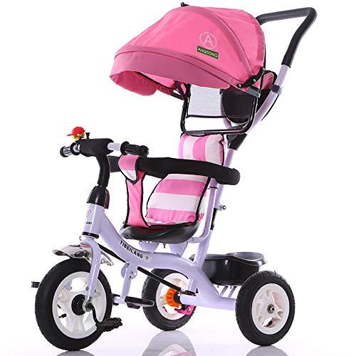 Aocean Triciclos Bebes Triciclo Infantil NiñO +18 Meses Pedales con Capota Extraíble Plegable Barra Telescópica para Padres Triciclo de Empuje Capacidad de Carga 30KG