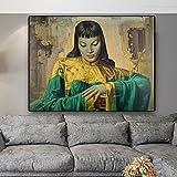 Tretchikoff Lady From Orient reproducción de pintura al óleo sobre lienzo carteles e impresiones imagen de pared escandinava para sala de estar-Pintura de Diamante 5D de bricolaje-Regalo de Navidad