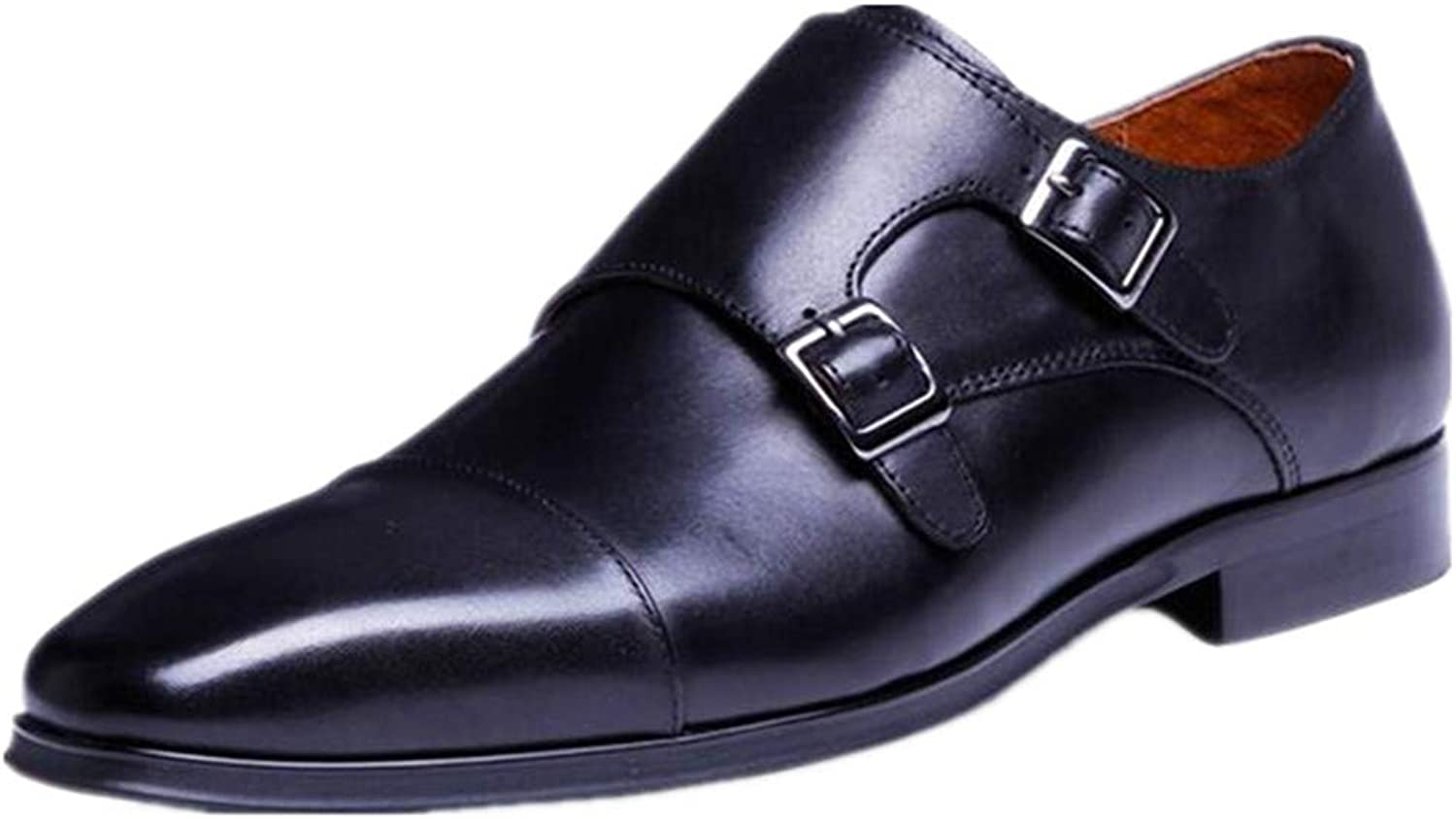 AHUQI Men's European and American High-end Buckle Spring Large Size shoes
