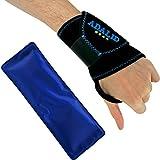 Adalid Gear - Muñequera con gel para terapia de frío y calor ajustable, multiusos, apto para microondas y reutilizable (tamaño único, mano izquierda o derecha)