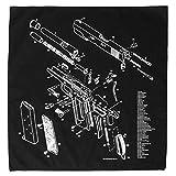 Illustrated 1911 diagram bandana | 100%...