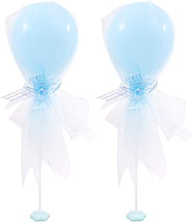 STOBOK 2Pcs Table Balloon Stand Kit With Balloon Stand Base And Latex Balloons For Christmas Wedding Birthday Baby Shower ...
