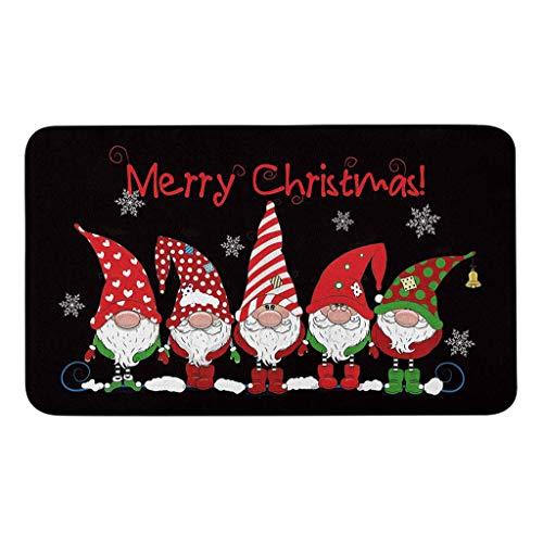 About1988 Weihnachts-Fußmatte, Eingangstürvorleger, rutschfest, kreatives Fußmatte, Weihnachten Home rutschfeste Tür Fußmatten Hall Teppiche, Fußmatte Schmutzfangmatte (Multicolor)