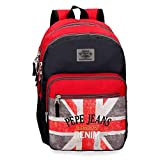 Pepe Jeans Calvin Mochila Doble Compartimento Adaptable a Carro Multicolor...
