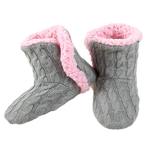 Cozy pink warm slippers Christmas gift for teenage girl