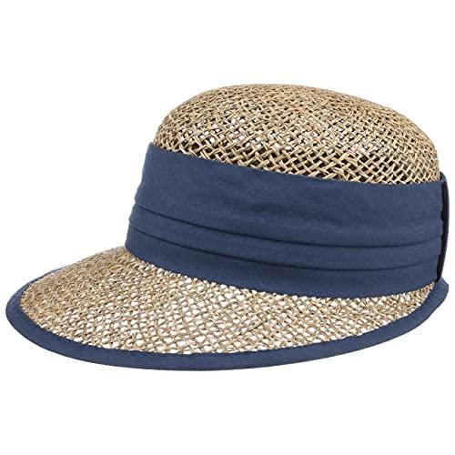 Seeberger Seeberger Beach Summer Strohcap Sonnencap Strandcap (One Size - blau)