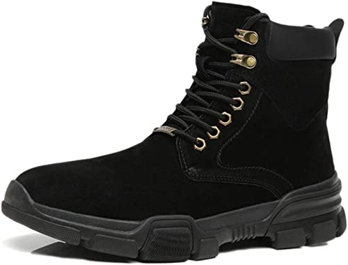 Snfgoij Chaussures De De De Travail Hommes Formateurs Imperméable Résistant à l'eau démarrageies Décontracté démarrageies Haut Coton Haut Hiver Bottes De Neige en Cuir d02