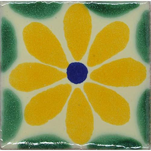 Azulejo de cerámica mexicana pintado a mano, comercio justo