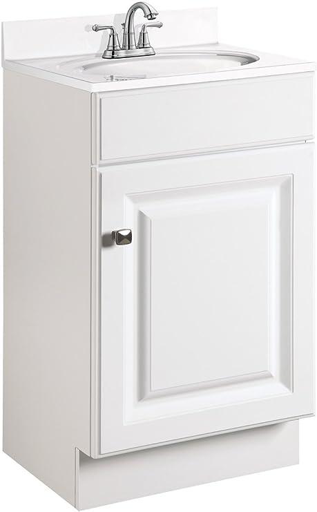 Amazon Com Design House 597112 Wyndham Unassembled Bathroom Vanity Cabinet Without Top 18 X 16 1 Door White Tools Home Improvement