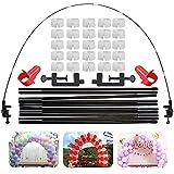 Kit de arco de mesa para globos de mesa ajustable de 3,6 m, para diferentes tamaños de mesa, boda, cumpleaños, Navidad, aniversario, decoración y celebrar eventos