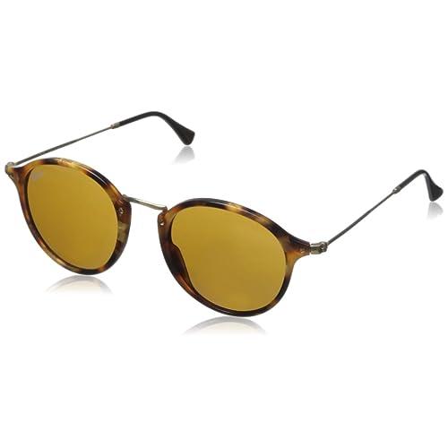 133aaa10cf4 Ray-Ban Unisex RB2447 Round Fleck Sunglasses