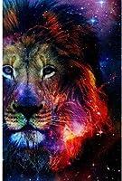ライオン1000ピースパズル-大人のパズル-部屋の装飾-クラシックパズル星空ライオンパズル