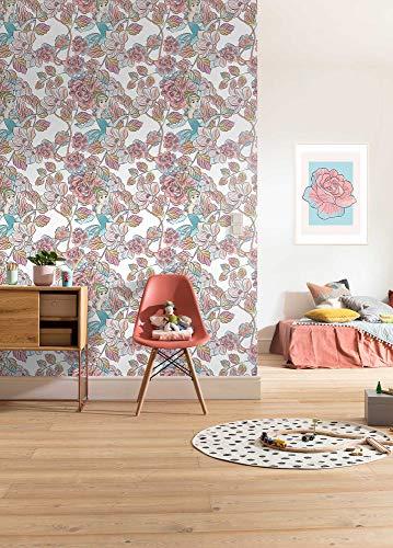 Disney vliesbehang van Komar | Cinderella Blossom | behang, kinderkamer, babykamer, decoratie | afmeting 200 x 280 cm | DX4-007