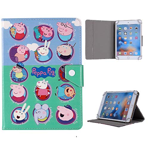 Kids Tablet Case For (Universal 7' (7' Inch) ~ Peppa Pig All Animal Cover (Universal 7' (7' Inch), Peppa Pig All Animal)