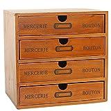 Baffect Caja de Almacenamiento con cajones de Madera Caja de