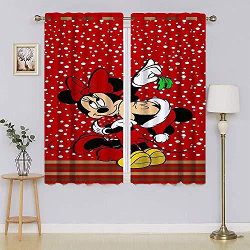 lacencn Mickey-Mouse - Cortina de ventana con aislamiento térmico y ojales de eficiencia energética para sala de estar (76 x 45 cm)