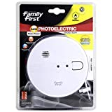 Family First FFPACHI Photoelectric Smoke Alarm 240V Interconnectable,White
