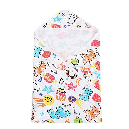 Toallas de baño debebé, albornoz encapuchada suave recién nacida de la toalla de baño del algodón del bebé respirable suave para niños(Crayon Doodles)