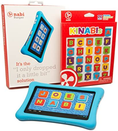Nabi 2 Tablet Bumper Case with 26 Piece Kinabis Letter Pack Bundle Educational and Interactive product image