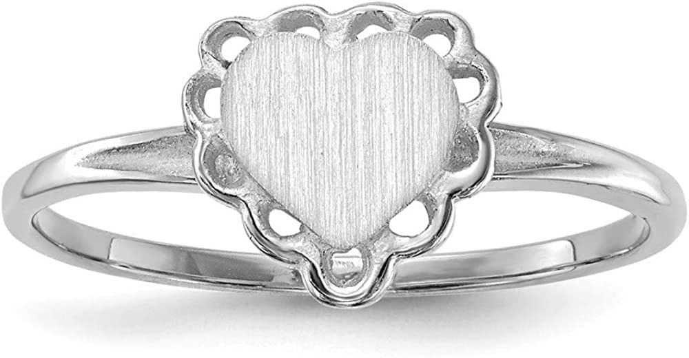store 14k Max 77% OFF White Gold Signet Size 6 Ring