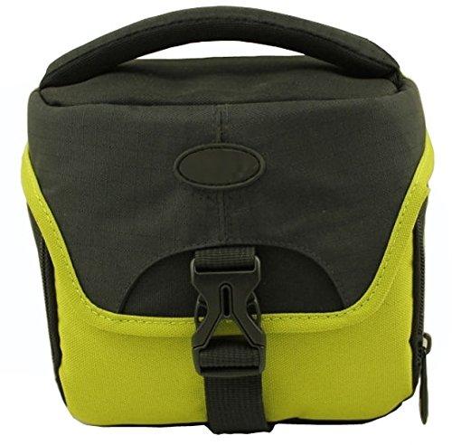 Kameratasche für Fujifilm FinePix S9800 - stylische Tasche S2004 Star grün + equipster Folie