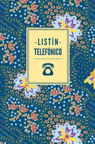 Listín telefónico: Libreta de direcciones y contactos telefónicos ordenación de la A-Z   324 registros   Agenda de teléfonos vintage   Cuaderno con ... Agenda telefónica abecedario A5 letra grande