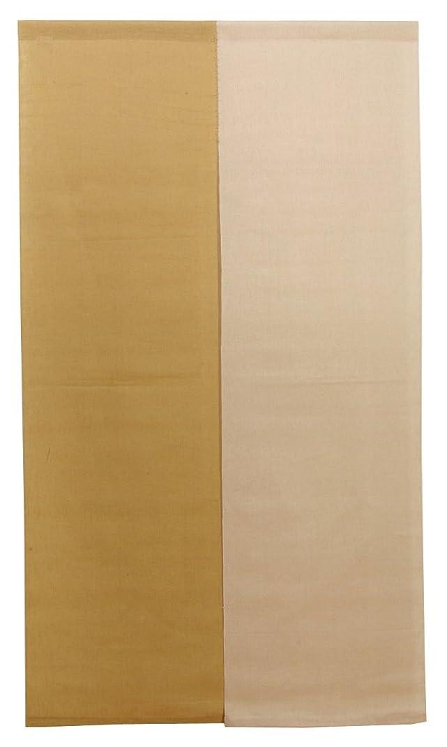 バッテリーポゴスティックジャンプ変色するイケヒコ のれん 本麻100%使用 『凛 麻暖簾』 ブラウン 約85×150cm ?1828310