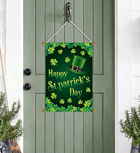 St. Patrick's Day Door Banner Decorations – Shamrock Indoor Outdoor Hanging Party Supplies Ornaments