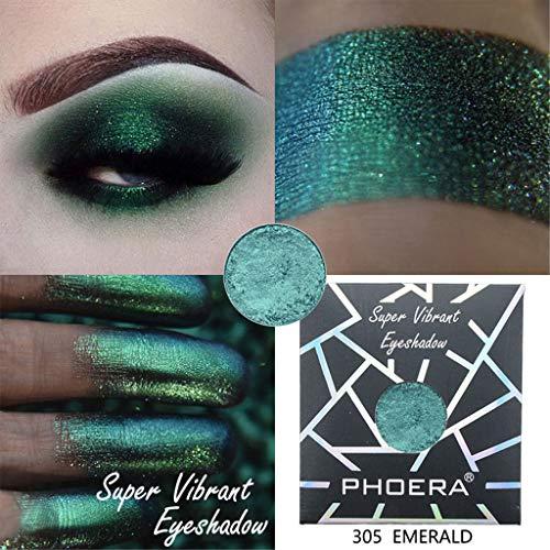 Briszz Glitter oogschaduw, metallic glanzende ogen, oogschaduw, koper, glinsterende afwerking, levendige kleuren, intensieve dekking #305