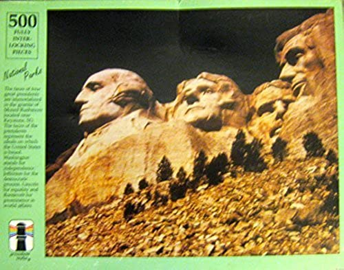 Mount Rushmore (National Parks) 500 Piece Puzzle 15 1 2 X 18 by Rainbow Works