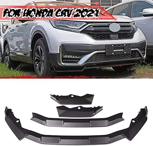 ZHANGJN Spoiler 3 Uds Abs Coche Parachoques Labio Cuerpo Kit Spoiler Divisor Difusor Protector para Honda CR-V CRV 2021