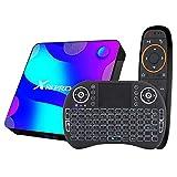 NZYMD Android 10.0 TV Box 4GB RAM 64GB ROM Smart TV Box con 3D 4K 2.4G / 5G Dual-Band WiFi Octa-Core 64bit Bluetooth 4.0 HDMI H.265 Reproductor Multimedia De Transmisión