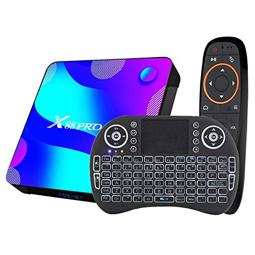 NZYMD Smart TV Box Android TV Box 4GB RAM 64GB Rom con Android 10.0 4K 3D Octa-Core 64bit 2.4G   5G Dual-Band WiFi Bluetooth 4.0 HDMI H.265 Streaming Media Player