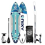 "NIXY Newport Paddle Board All Around Inflatable SUP 10'6' x 33"" x 6"" Ultra-Light Stand Up Paddleboard Built with Dual Layer Woven Drop Stitch Includes Carbon Hybrid Paddle, Pump, Bag & More"